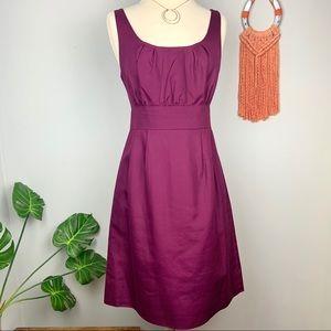 J.Crew Spiced Wine Cotton Cady Sydnie Dress